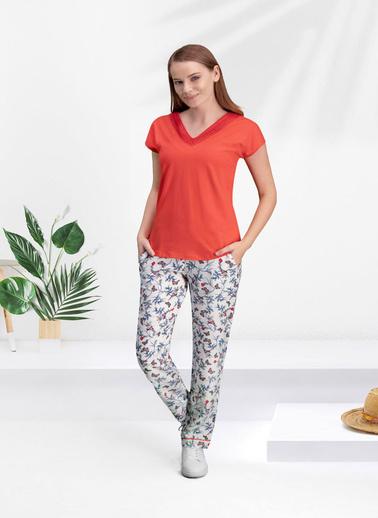 Arnetta Arnetta Butterfly Kadın Pijama Takımı Kırmızı
